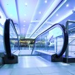 Enter to moving escalator — Stockfoto #1331062