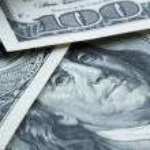 One hundred dollar banknotes — Stock Photo