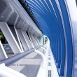 Blue glass corridor — Stock Photo #1331132