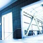 Empty blue corridor — Stock Photo #1331153