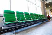Sala de espera, lugar vazio no aeroporto — Fotografia Stock