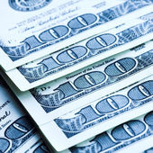 Sto dolarové bankovky — Stock fotografie