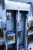 Výtahy v hale centrum radnice — Stock fotografie