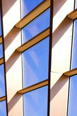 Blue building abstract detail blocks — Stock Photo