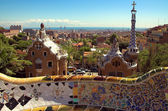 Ceramic mosaic in Park guell — Stock Photo