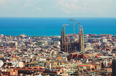 Panorama in Barcelona, — Stock Photo