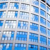 Blue building abstract details — Stock Photo
