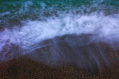 Blue sea and sand, long exposure — Stock Photo