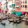 Stock Photo: Gondoliers wait tourists