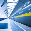 Train on platform in subway — Stock Photo #1380203