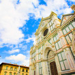 Wide Santa Croce basilica in Florence — Stock Photo
