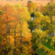 Autumn landscape in Moscow, Russia - Stock Photo
