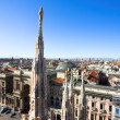 Panorama from Duomo roof, Milan, Italy — Stockfoto #1380389