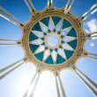Columns and circle on top — Stock Photo