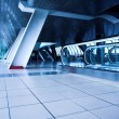 Escalator in corridor - Stock Photo