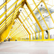 Empty yellow corridor - Stock Photo