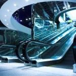 Move escalator in modern office — Stock Photo #1380649