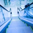Fast moving escalator — Stock Photo