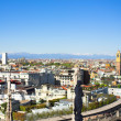 Panorama from Duomo roof, Milan, Italy — Stock Photo