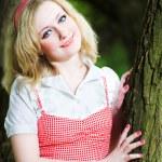 Blonde smile beautiful girl portrait — Stock Photo