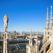 Stock Photo: Panoramfrom Duomo roof, Milan, Italy