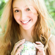 Royalty-Free Stock Photo: Smiling girl with ball