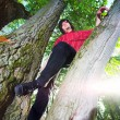 Stockfoto: Boy seat on tree