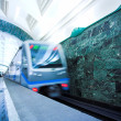 Train on underground station — Stock Photo