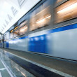 Train on underground station — Stockfoto