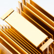 Gold radiator - Stock Photo