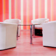 Armchairs in cafe — Stock Photo