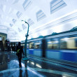 Train on underground station — Stock Photo #1381920