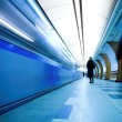 Train on underground station — Stock Photo #1381943