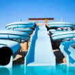 Aquapark in hotel — Stock Photo