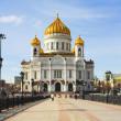 Cathedral of Christ the Savior in Moscow - Stockfoto