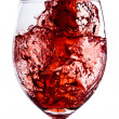 Red wine splash — Foto Stock