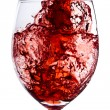 Red wine splash — Stock Photo