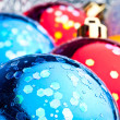 Red and blue christmas balls — Stock Photo #1388634