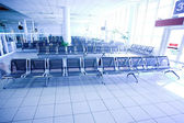 Waiting room, empty place in airport — Stock Photo