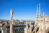 Panorama from Duomo roof, Milan, Italy — Stock Photo