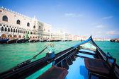 Gondola nose on water — Stock Photo
