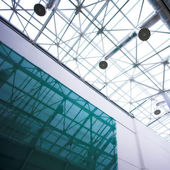 Glass ceiling in office — Photo