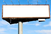 Blank big billboard over blue sky — Stockfoto