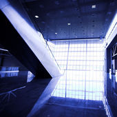 Escalators in exhibition — Stock Photo