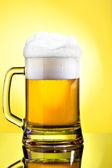 Full mug of lager beer — Stock Photo