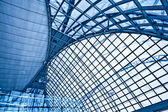 Abstract blue ceiling interior — Stock Photo