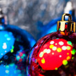 Red and blue christmas balls — Stock Photo #1505909