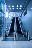 Two escalators in trade center — Stock Photo