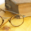 Glasses and the book — Stock Photo