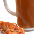 Royalty-Free Stock Photo: Crawfish and mug of beer
